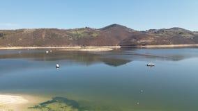 Uvac sjö, Srbia Arkivfoto