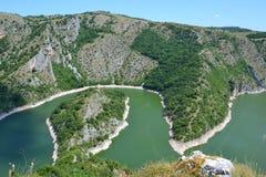 Uvacrivier in Servië Stock Foto