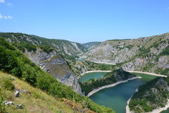 Uvacrivier in Servië Royalty-vrije Stock Afbeeldingen
