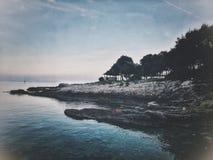 Uvala de Duga da costa, Croácia imagens de stock royalty free