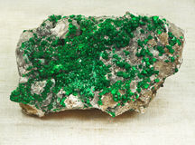 Uvarovite (green Garnet) Royalty Free Stock Photos