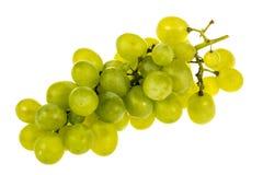 Uvas blancas en el fondo blanco Foto de archivo libre de regalías