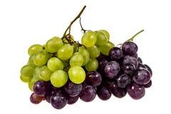 Uvas blancas y uvas negras Imagen de archivo