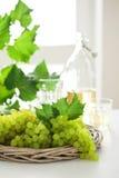 Uvas brancas frescas Fotos de Stock