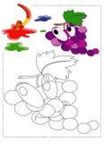 Uvas a colorir Fotos de Stock Royalty Free