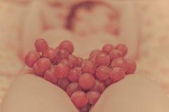 Uvas com amor Imagem de Stock