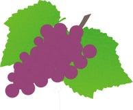Uvas com folhas da uva ilustração do vetor