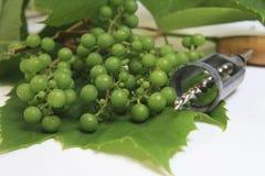 Uvas con el sacacorchos Imagenes de archivo