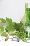 Uvas con el sacacorchos Fotografía de archivo libre de regalías