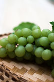 Uvas de uvas en una tabla de madera Fotografía de archivo libre de regalías
