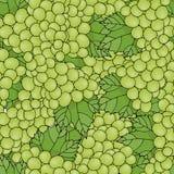 Uvas del verde del vector del papel pintado Uvas inconsútiles del fondo del modelo Fotografía de archivo libre de regalías