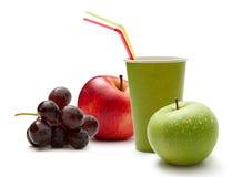 Uvas e maçãs imagem de stock