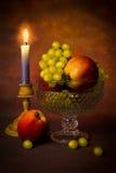 Uvas e maçãs Foto de Stock Royalty Free