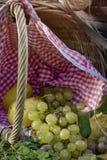Uvas e peras Foto de Stock