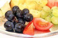 Uvas e queijo Foto de Stock