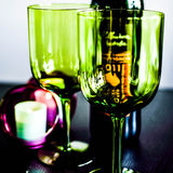 Uvas e vidros de vinho Foto de Stock