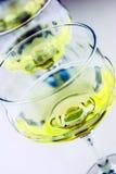 Uvas e vidros de vinho Fotografia de Stock