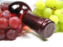 Uvas e vinho Fotografia de Stock
