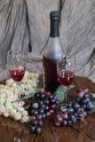 Uvas e vinho Fotografia de Stock Royalty Free