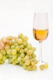 uvas e vinho branco Fotos de Stock