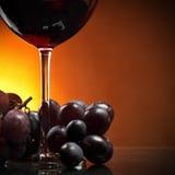 Uvas e vinho vermelho Fotos de Stock