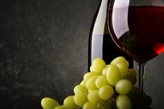 Uvas e vinho vermelho Foto de Stock Royalty Free