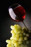 Uvas e vinho vermelho Foto de Stock