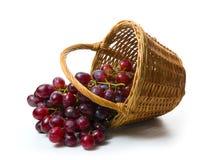 Uvas en cesta Foto de archivo libre de regalías