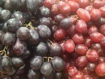 Uvas negras y rojas Foto de archivo