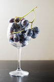 Uvas no copo Imagens de Stock Royalty Free