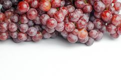 Uvas rojas en el fondo blanco Imágenes de archivo libres de regalías