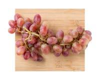 Uvas rojas frescas Fotografía de archivo libre de regalías