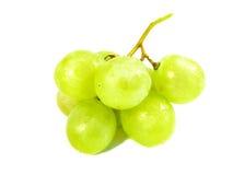 Uvas verdes com uva branca fotos de stock royalty free