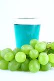Uvas verdes do suco Foto de Stock