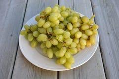 Uvas verdes doces Foto de Stock