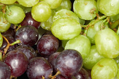 Uvas verdes e pretas Foto de Stock