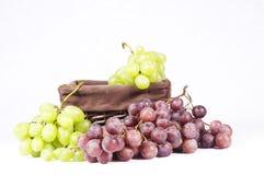 Uvas verdes e vermelhas Fotografia de Stock Royalty Free