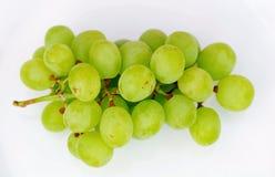 Uvas verdes frescas Imagens de Stock
