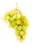 Uvas verdes isoladas no branco Fotografia de Stock