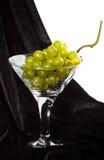 Uvas verdes no vidro Foto de Stock