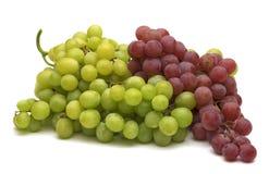 Uvas verdes y rojas Imagen de archivo libre de regalías