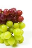 Uvas verdes y rojas Fotografía de archivo libre de regalías