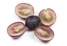 Uvas vermelhas do globo Fotografia de Stock