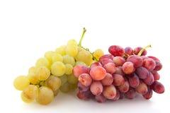 Uvas vermelhas e brancas Fotos de Stock Royalty Free
