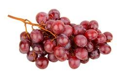 Uvas vermelhas isoladas no branco Fotografia de Stock