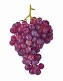Uvas vermelhas isoladas no fundo branco Fotografia de Stock