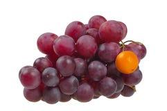 Uvas vermelhas que simbolizam Imagem de Stock