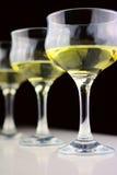 Uvas y copas de vino Foto de archivo libre de regalías