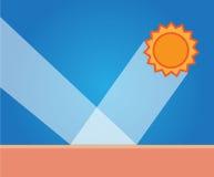 Uvbescherming, uv, zon stock illustratie