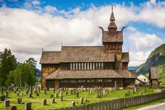 Uvdal church from Norway. Uvdal, Norway - July 20, 2016: Uvdal church, Norway. Uvdal church is a church from 1893 in Nore og Uvdal, Buskerud county. The church Royalty Free Stock Image